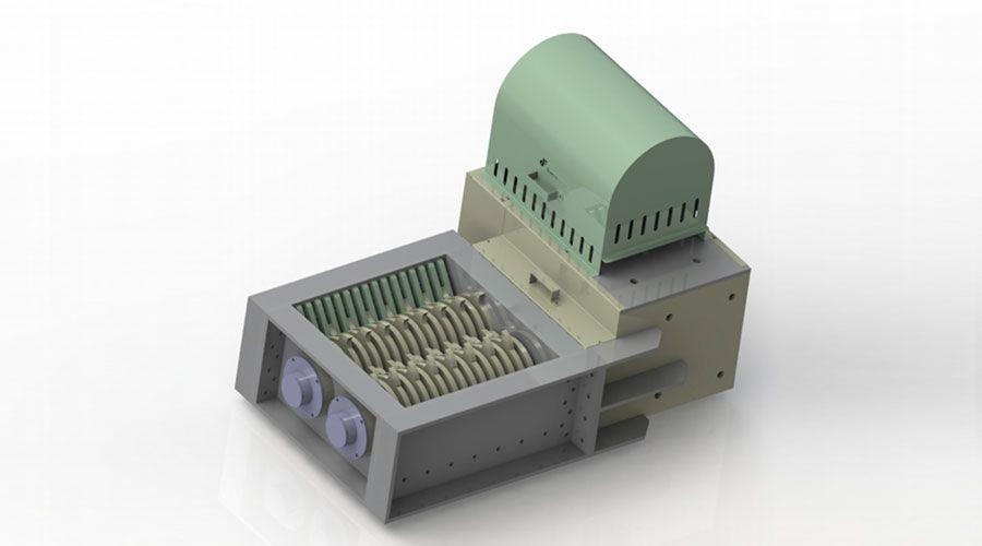 Trituradora de reducción de volumen con marca CE