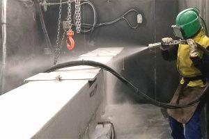 The sandblasting technique